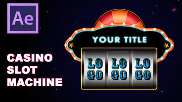 Casino Slot Machine (Las Vegas) - After Effects Logo Template After Effects Template