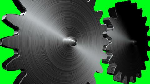 Big gears rotation Animation