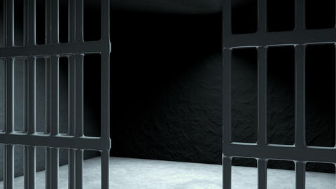 Animation of Closed Jail bars Animation