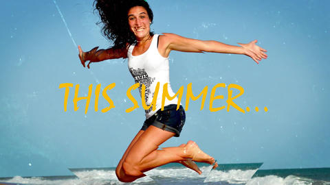 Summer Parallax Photo 3D Slideshow After Effects template After Effects Template