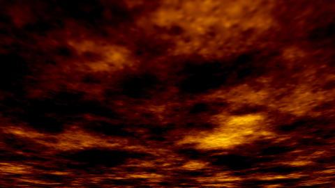 Fiery sunset sky animation Animation