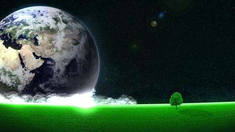 Energy Saving,Eco,Earth,loop,tree,position left CG動画