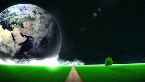 Energy Saving,Eco,Earth,loop,way,position left CG動画