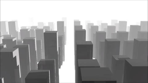 Fly over the City Animation