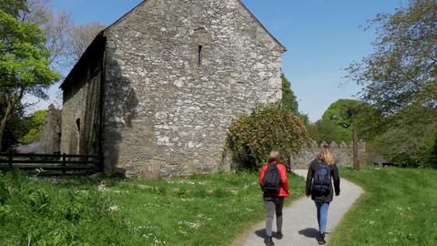 Castle Ward in Northern Ireland near Belfast is a popular landmark Footage
