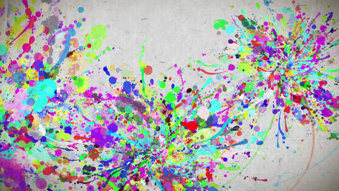 color paint strokes paper texture background CG動画