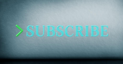 Animation of subscribe text sparkling 4k Animation
