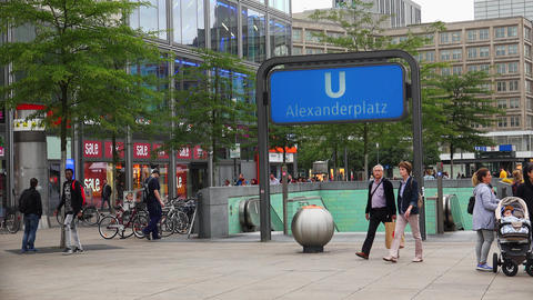 Alexanderplatz. The central square in Berlin. Germany. 4K Live Action