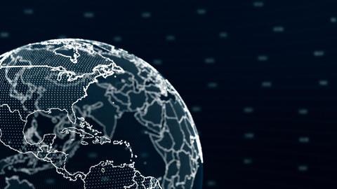 Stylized Earth Background Animation