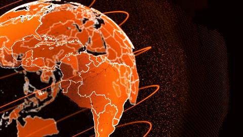 Orange Globe Animation