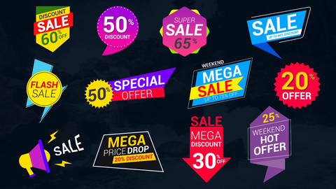 Sale Lables & Badges After Effects Template
