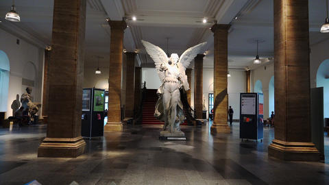 Museum of German History. Interior and halls. Berlin.... Stock Video Footage