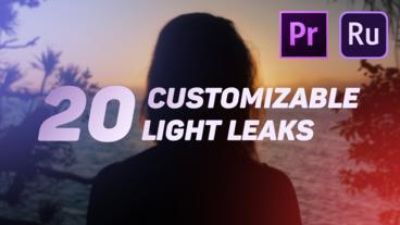 Light Leaks モーショングラフィックステンプレート