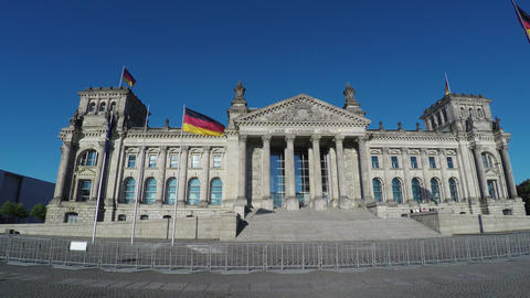 Reichstag in Berlin. Parliament of Germany. 4K Archivo