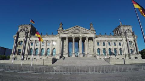 Reichstag in Berlin. Parliament of Germany. 4K, Acción en vivo