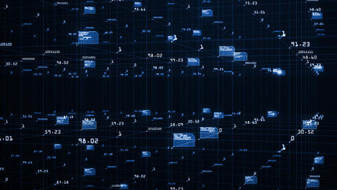 Big data visualization concept. Machine learning…, Stock Animation
