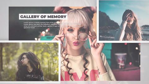 Gallery of Memories Apple Motion Template