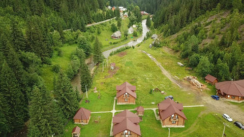Carpathian Mountains From a Bird Flight Height Footage