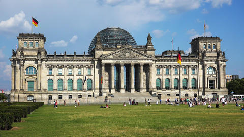 Reichstag in Berlin. Parliament of Germany. 4K Acción en vivo