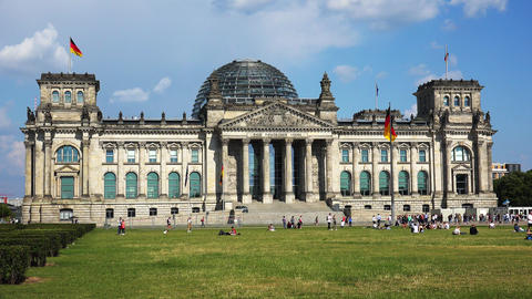 [alt video] Reichstag in Berlin. Parliament of Germany. 4K
