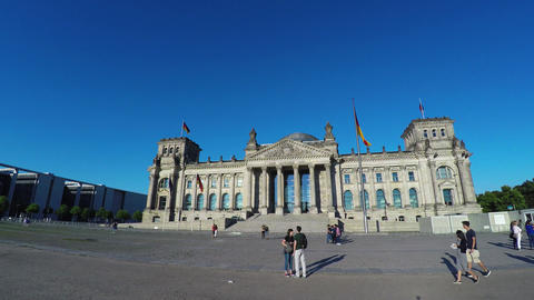 Reichstag in Berlin. Parliament of Germany. 4K, Acción en vivo