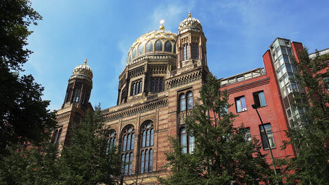 Jewish synagogue in the center of Berlin. Germany. 4K Archivo