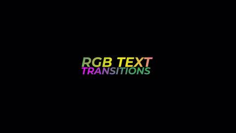 RGB Text Transitions Premiere Pro Effect Preset