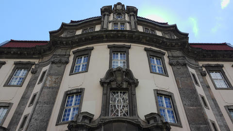 Beautiful facade of an old house. Berlin. Germany. 4K Live Action