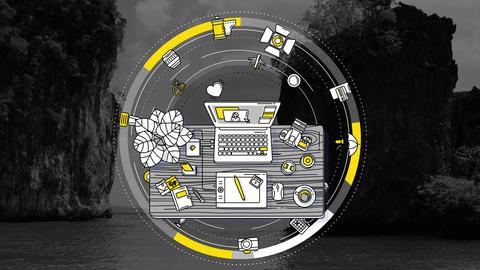 Photographer promotional dynamic animated background Animation