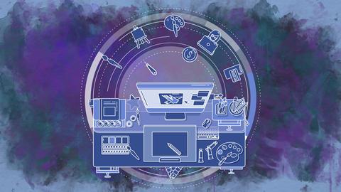 Animation of the Illustrator promotional background Animation