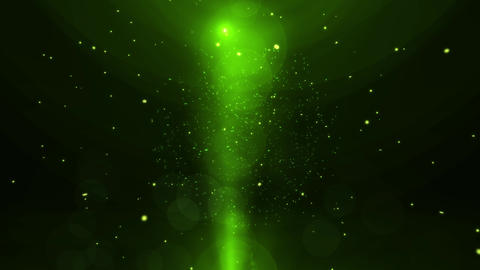 Neon Green Particles and Light Animation