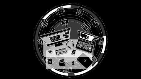 Web Developer promo animation on alpha chanel Animation