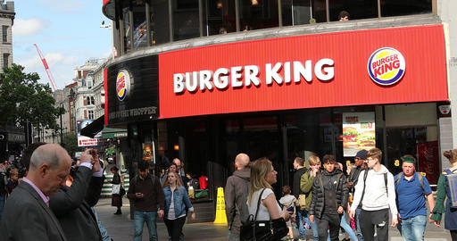 Burger King Leicester Square London Footage