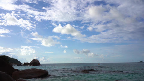 Seychelles. Praslin Island. Amazing view of the nature of the island located in Footage