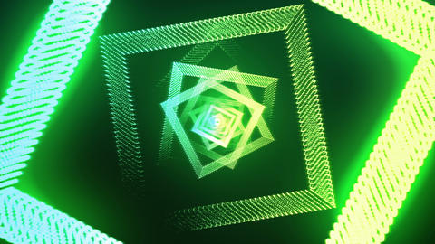 Abstract romb green Animation