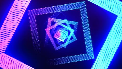 Abstract romb purple - blue Animation