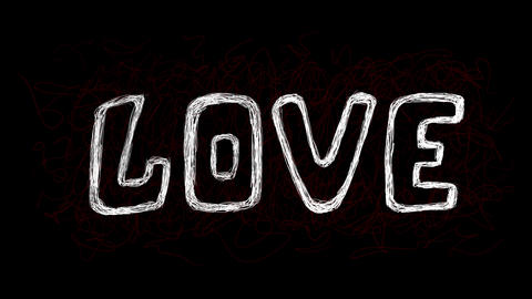 Love and beat on black Animation
