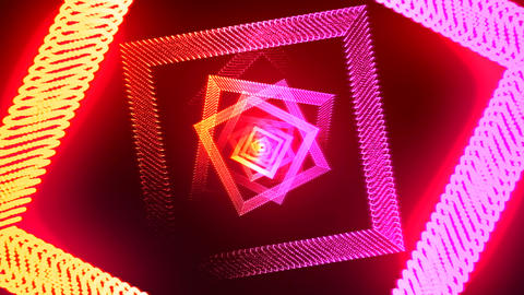 Abstract romb red- orange Animation