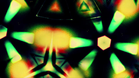 Trippy 004: Kaleidoscopic forms merge, ripple and flow Animation