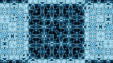 Video Background 1049: A kaleidoscopic circuit board Animation