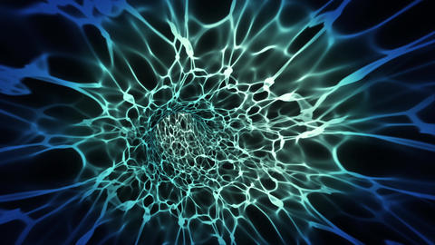 Video Background 1302: Traveling through a tunnel of fractal light Animation