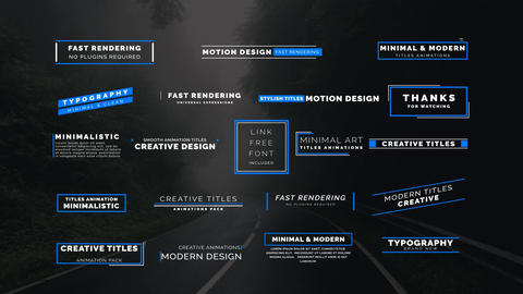 20 Animated Titles After Effects Template
