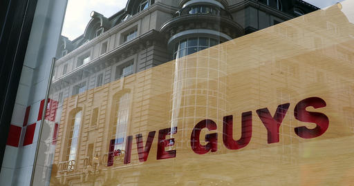 Five Guys Sign Footage