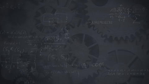 Calculations on a gearing background Animation