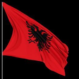 Albanian Flag Alpha Animation