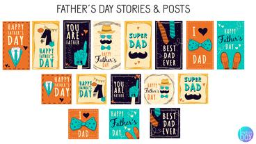 Father´s Day Stories & Posts After Effects Template