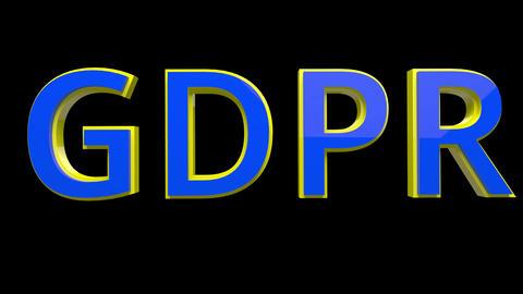 4K Text Bumper GDPR 1 Animation