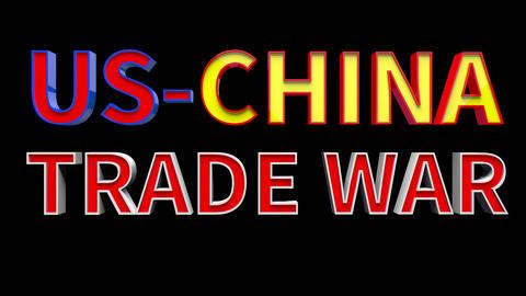 4K Text Bumper US China Trade War 2 Videos animados