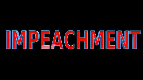 4K Text Bumper Impeachment 3 Animation