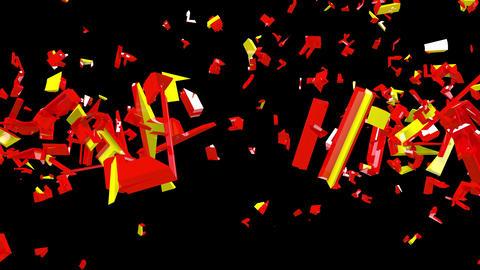 4K Text Bumper Recession 1 Videos animados